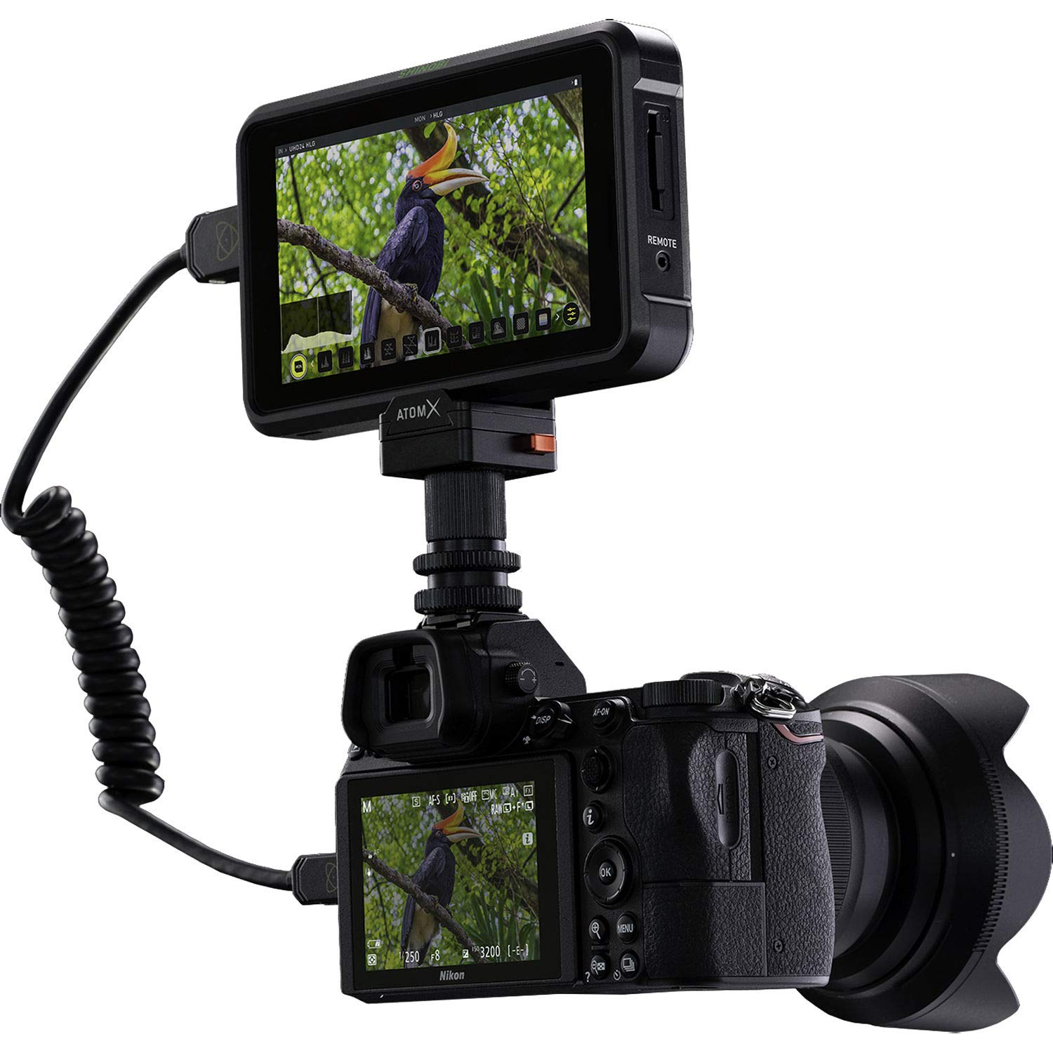 Atomos Shinobi 5.2 4K HDMI Monitor with Basic Accessory Bundle UHS-I//V-30 // Class-10 + Standard HDMI Cable Microfiber Cleaning Cloth Includes: SanDisk Extreme PRO 64GB SDXC Memory Card