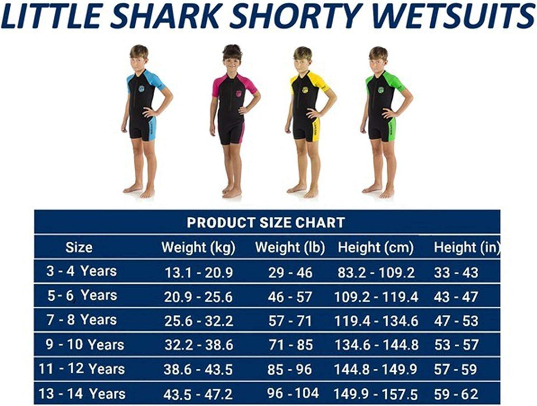 Premium Neoprene 2 mm Cressi Little Shark Shorty Wetsuit Childrens Unisex