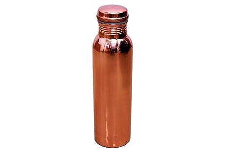 Standard Copper Pure Copper Water Bottle  1000 Ml_Brown  Water Bottles