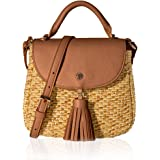 Straw Handbag for Women Woven Bag Summer Beach Bag Crossbody Purse by The Lovely Tote Co.
