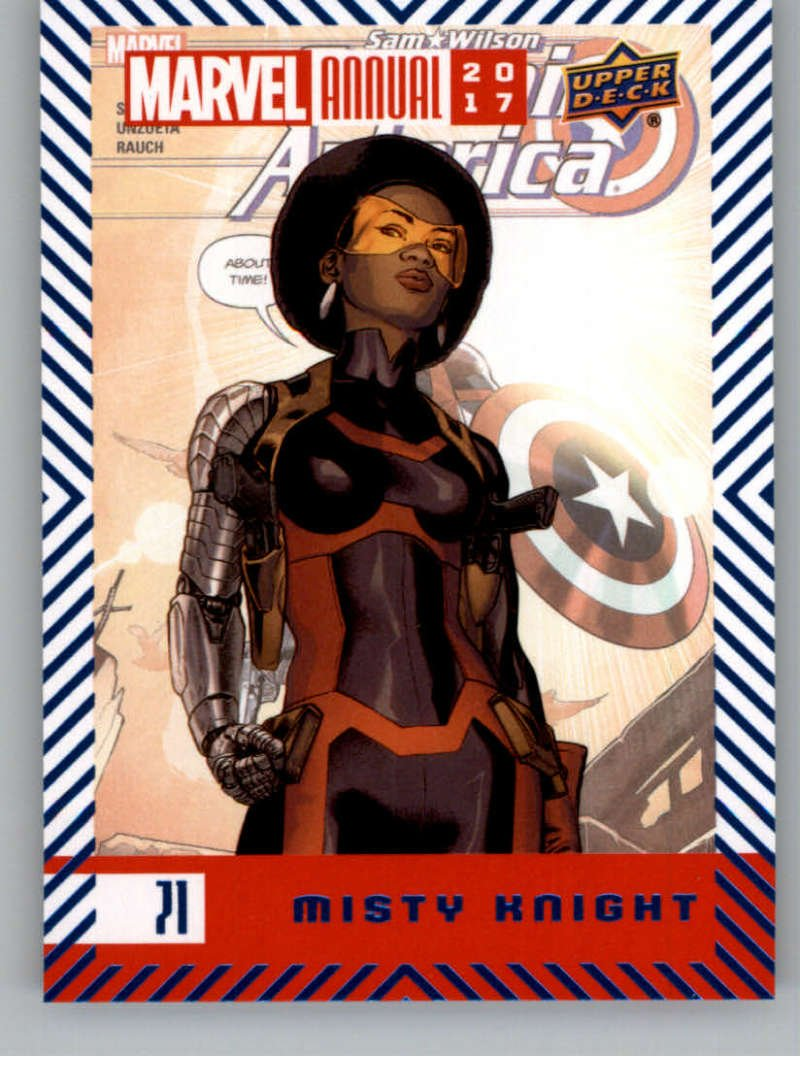 2018 Upper Deck Marvel Annual Blue Foil #71 Misty Knight