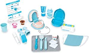 Melissa & Doug Super Smile Dentist Kit With Pretend Play Set of Teeth And Dental Accessories (25 Toy Pieces)