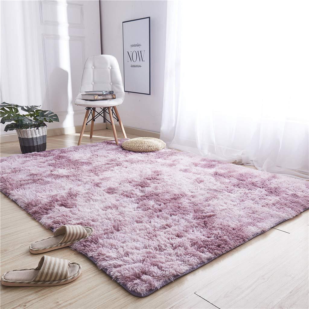 Transser Ultra Soft Indoor Modern Area Rugs Fluffy Living Room Carpets for Children Bedroom Dormitory Home Decor Nursery Rugs Sky Blue
