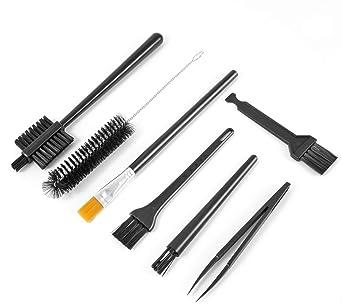 Kit de cepillos de limpieza 7 en 1 multiusos para teclado pequeño de PC (negro