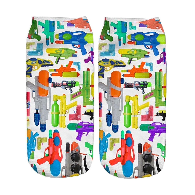 Doxi Water Gun Harajuku Style Low Cut Ankle Sock Fashion Cartoon Cute