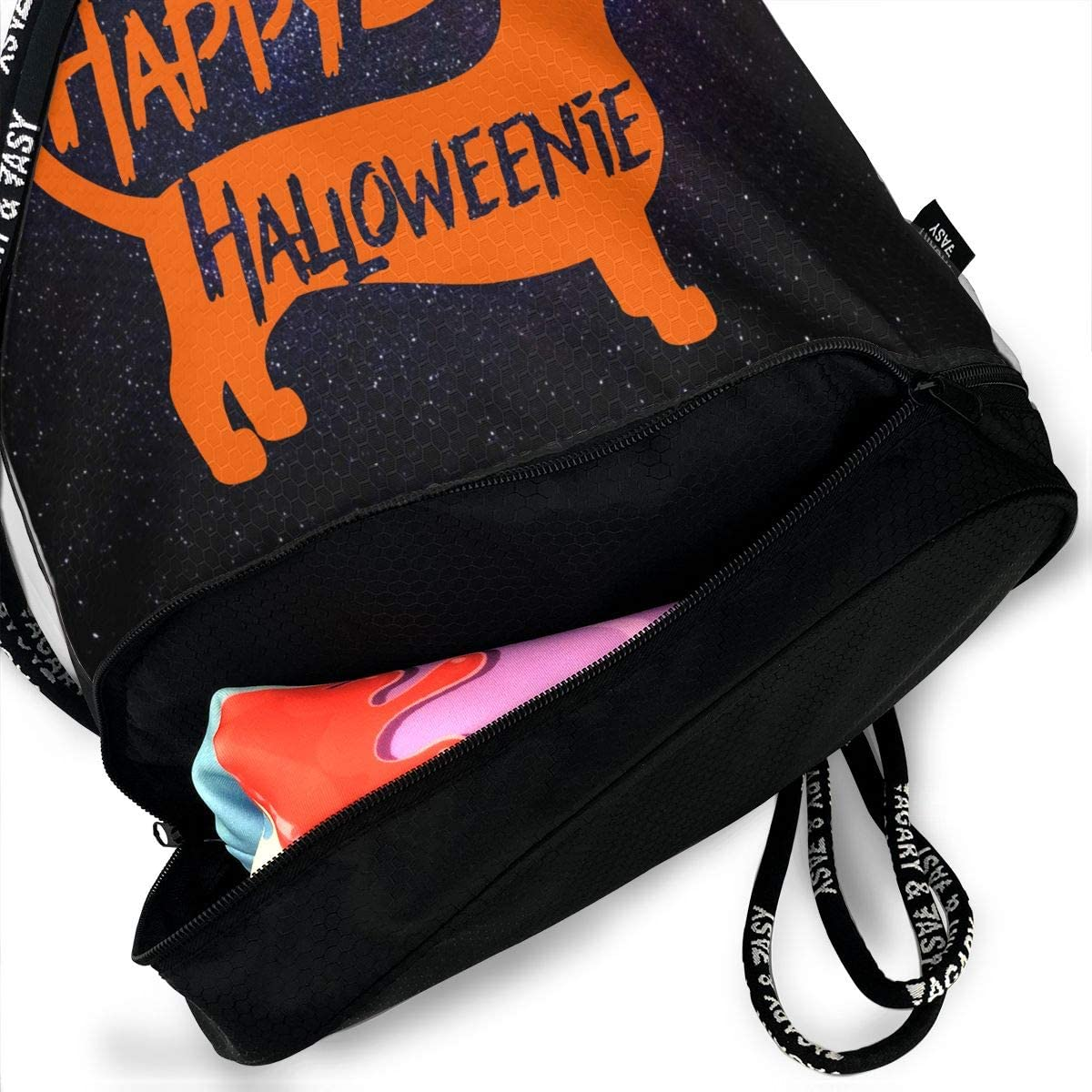 SG0HGO Drawstring Pack Happy Halloween Men /& Women Gym Sport Yoga Shoulder Bags