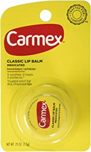 Carmex Classic Lip Balm Medicated 0.25 oz (Packs of 6)