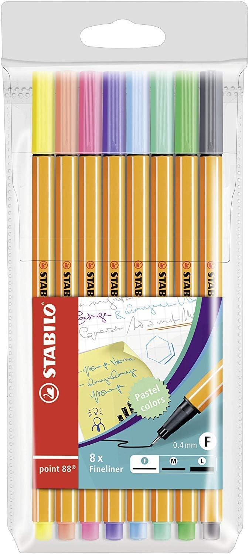 Stabilo Point 88 Pastel, 8-Color Set