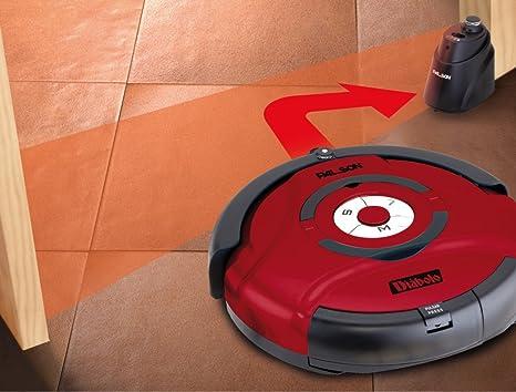 Palson 30595 Diablo-Robot Aspirador (Acero Inoxidable, 23 W, Sensor automático), Color Rojo, 65 Decibeles, plástico: Amazon.es: Hogar
