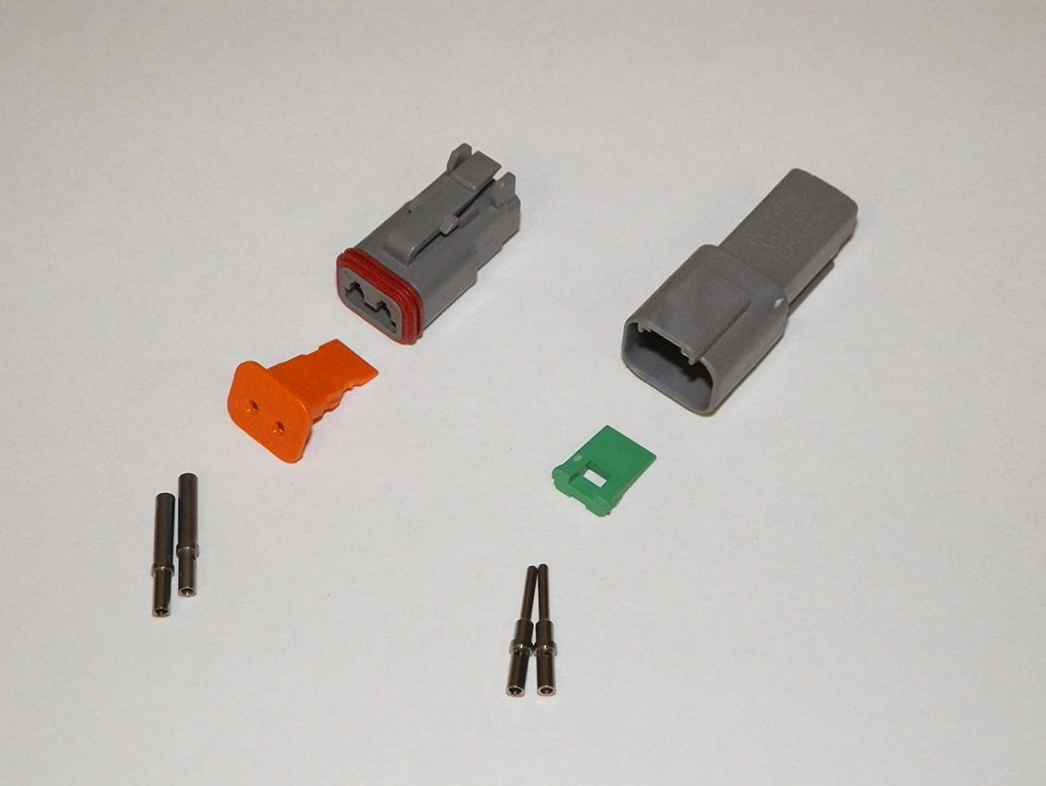 Deutsch Dt Series 2 Pin Connector Kit W Barrel Style Wiring Connectors Terminals 16 20 Awg Automotive