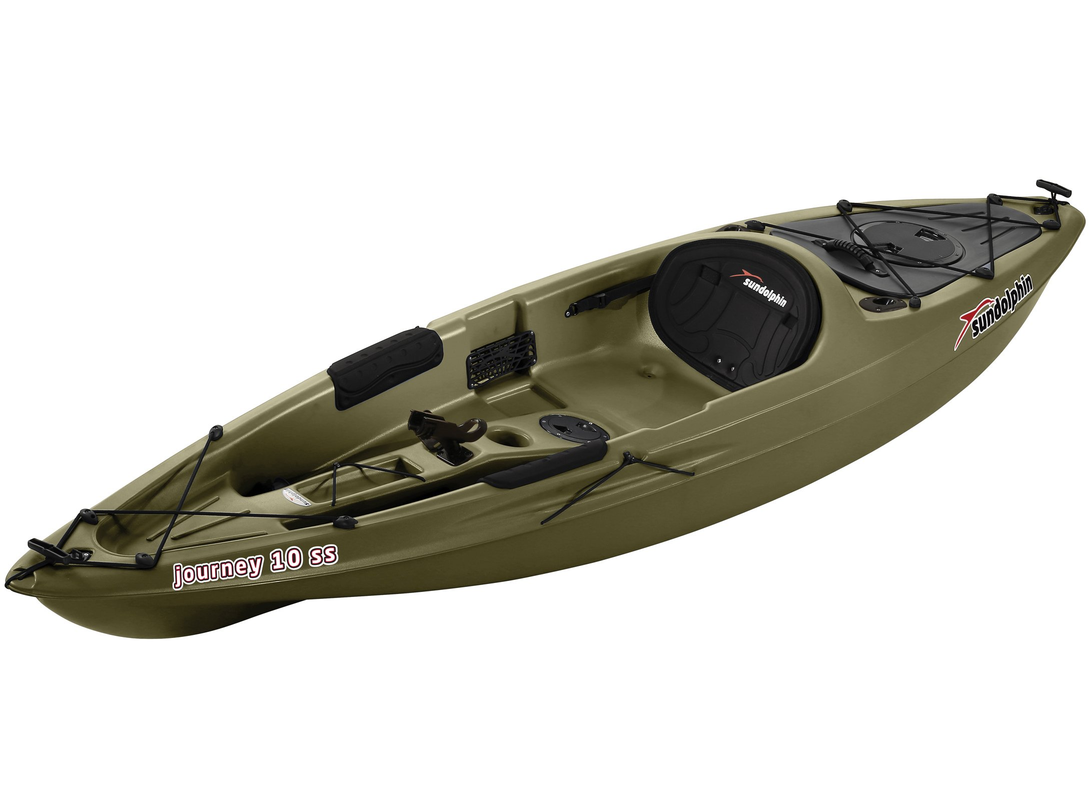 SUNDOLPHIN Sun Dolphin Journey Sit-on-top Fishing Kayak (Olive, 10-Feet) by SUNDOLPHIN