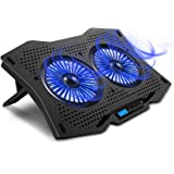 """AICHESON Laptop Cooling Cooler Pad for 15.6"""" - 17.3"""" Notobooks, Metal Panel, 2 Big Turbofans"""