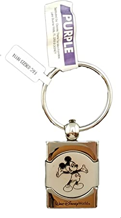 Stainless Steel Disney World Plaque Key Chain Engraved Disney Park Quote Entrance Keychain