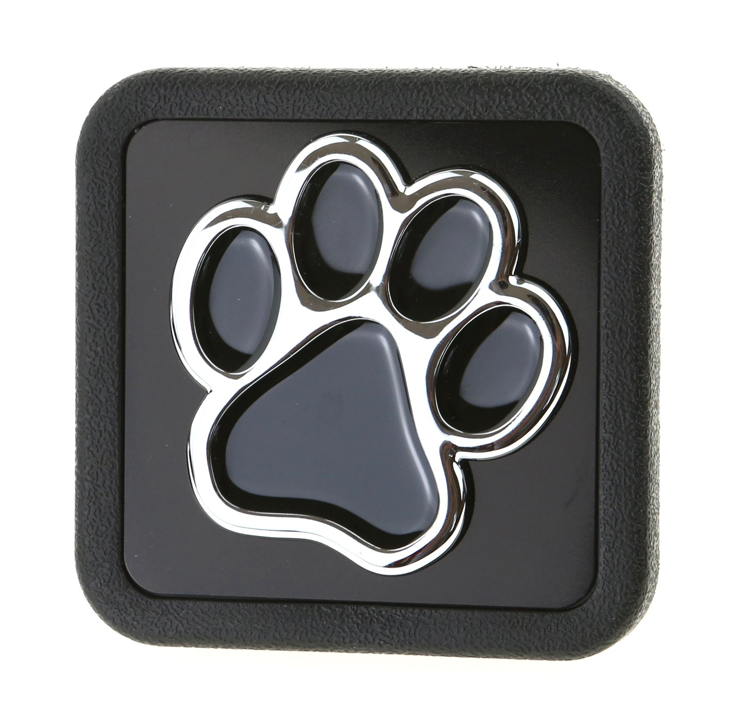 LFPartS 3D Chrome Emblem Trailer Hitch Cover Tube Plug Insert (Fits 2'' Receivers, Bear Dog Animal Paw Foot) by LFPartS