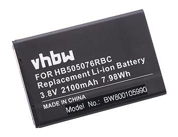 df57f3fa99d vhbw batería 2100mAh (3.8V) para telefono móvil Smartphone Huawei A199,  Ascend G606, G610, G700, G710 por HB505076RBC: Amazon.es: Electrónica