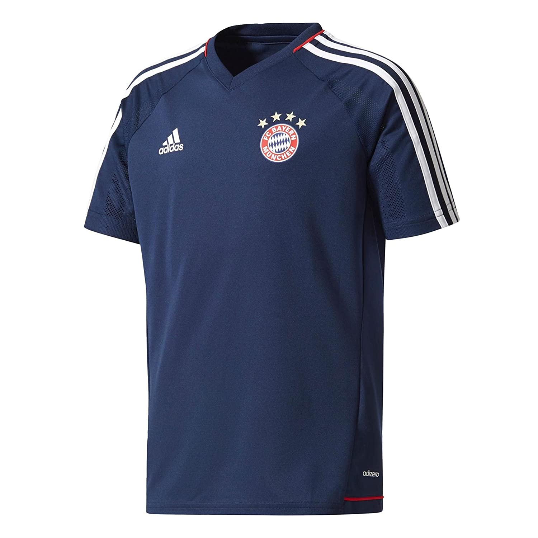 2017-2018 Bayern Munich Adidas Training Shirt (Navy) Kids B0728CRVJRNavy Large Boys 30-32\
