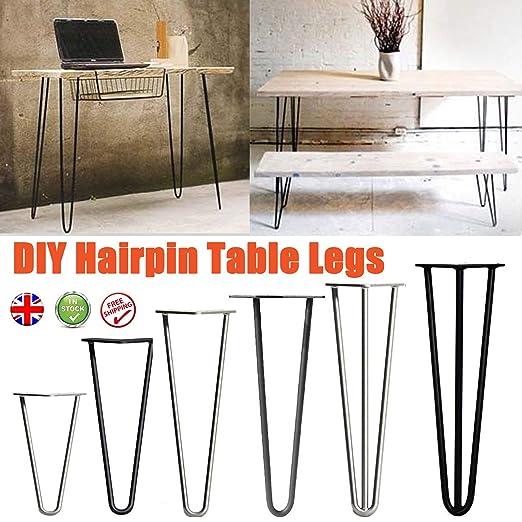 4 patas de mesa de horquilla para muebles, resistentes, estables y ...