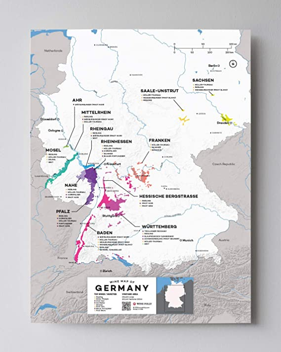 Wine Folly Germany Wine Map Poster Print, 12
