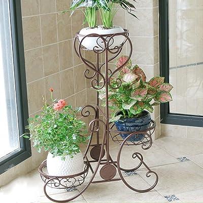 LRW Balcony Flower Rack Wrought Iron Multi-Layer Indoor Space Living Room Flower Stand Floor Flower Pot Rack: Garden & Outdoor