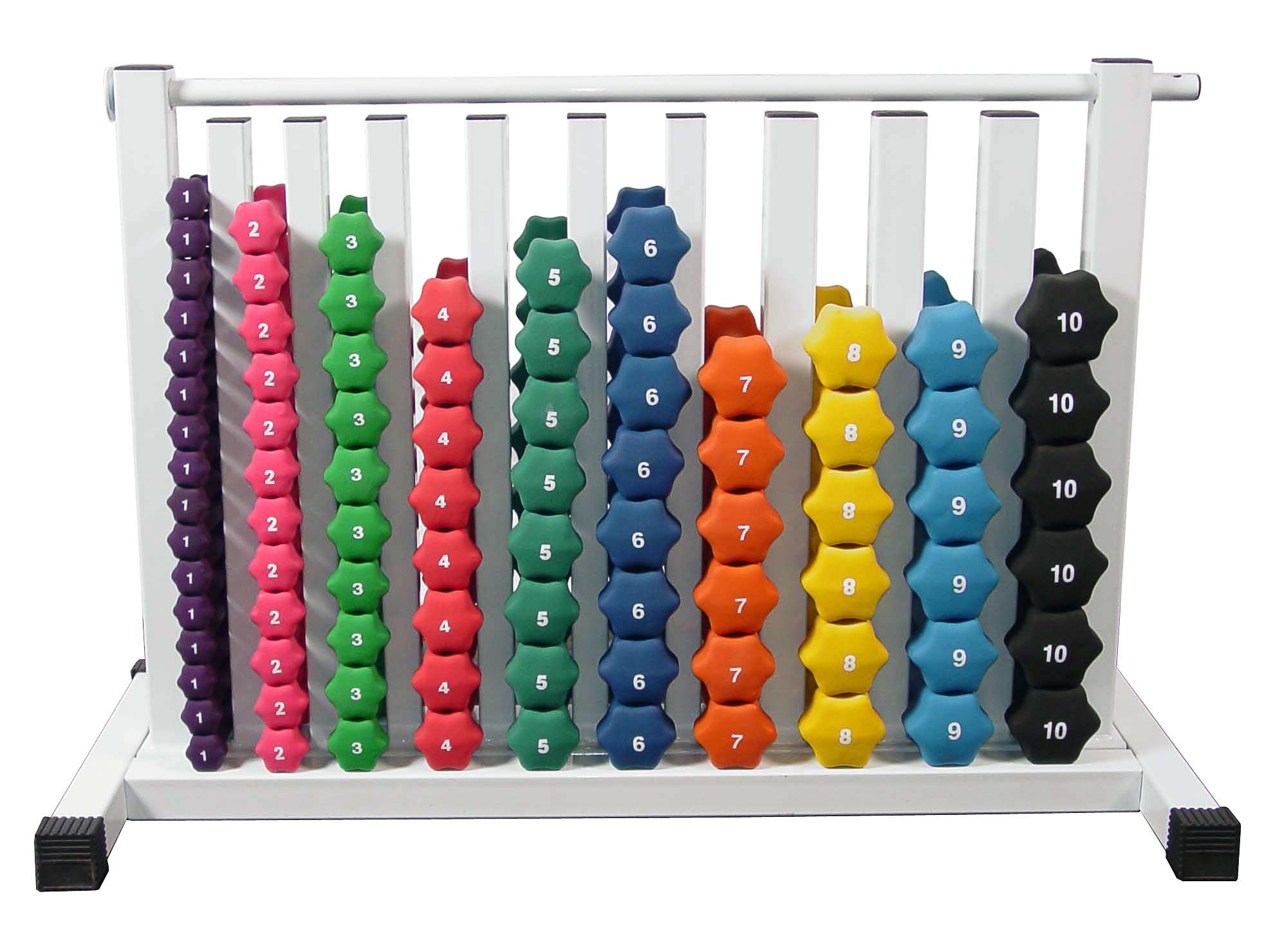 Neoprene Dumbbell Set- 88 Weights w/ Free Safety Rack