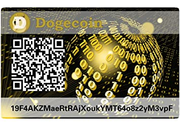 dogecoin Paper Wallet Card, hardware Wallet: Amazon.es ...