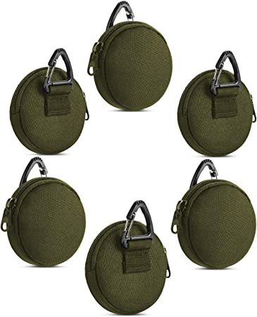 Coin Purse Keychain, Small Mask Pouch Holder, Professional Tactical Pouch Accessories Case for Round EDC Pouches, Military Gear Bags, Little Change Wallet.