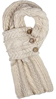 d83c3937e08fe Aran Traditions Oatmeal Cable Snood Scarf ...: Amazon.co.uk: Clothing
