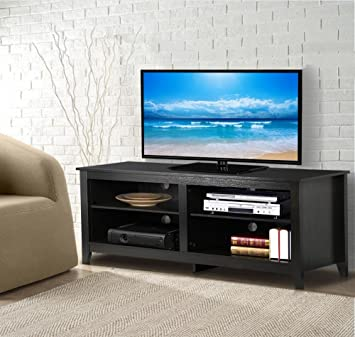 Amazon Com World Pride 57 Modern Wood Tv Stand Entertainment
