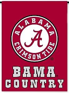 NCAA Alabama Crimson Tide 2-Sided Country Garden Flag, Team Color
