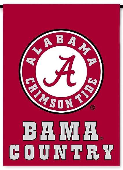 NCAA Alabama Crimson Tide 2 Sided Country Garden Flag, One Size, Team Color