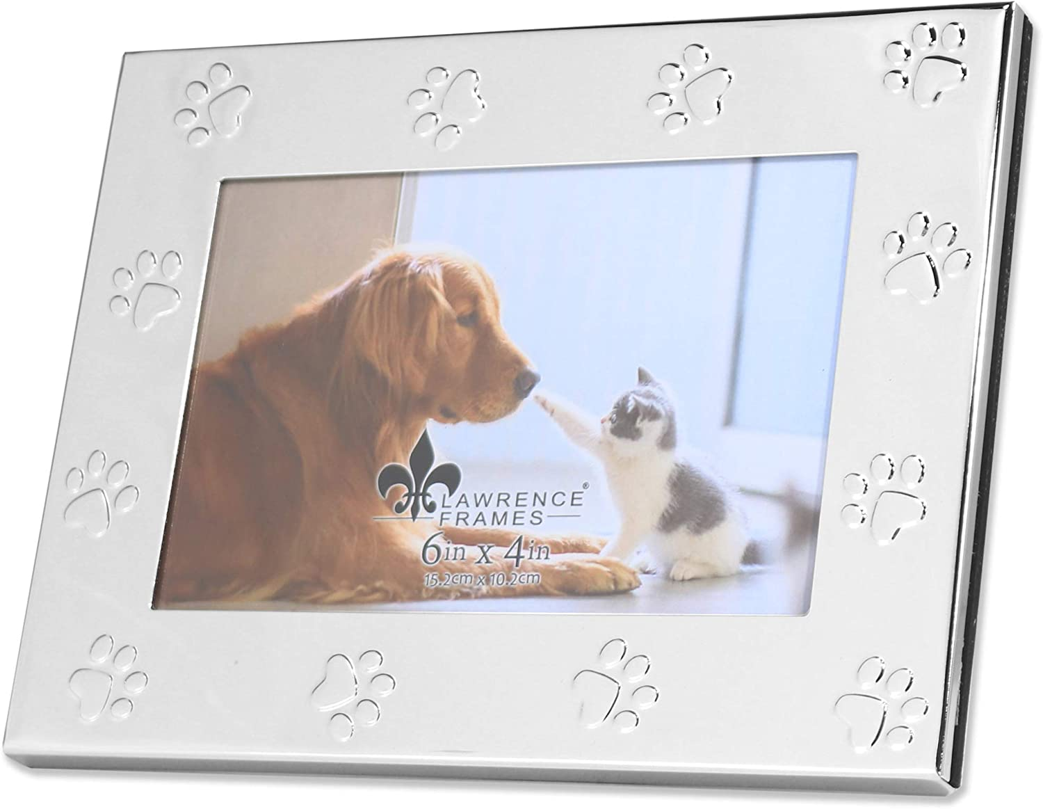 Silver Lawrence Frames Classic Bead Picture Frame 6x4