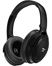 Noise Cancelling Bluetooth Headphones, TaoTronics ANC Wireless Over Ear Headset with High Clarity Sound Powerful Bass, 30 Hour Playtime for Travel Work TV PC Cellphone