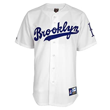 d4284ecc9 Jackie Robinson Brooklyn Dodgers  42 Majestic Cooperstown Collection Throwback  Jersey - White