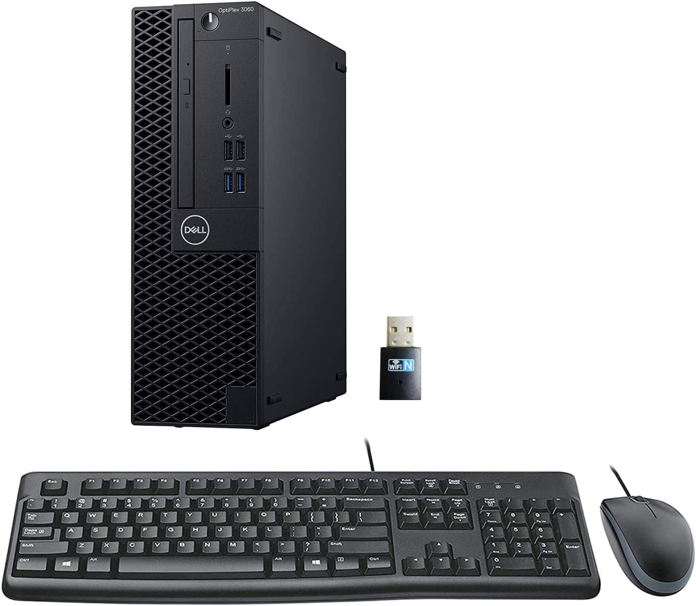 Dell Optiplex 3060 SFF Desktop PC Bundle with Keyboard, Mouse, Intel Core i5-8500 3.0GHz 6 Core (Hexa Core), 32GB DDR4 RAM, 1TB NVMe SSD, WiFi, Windows 10 Pro