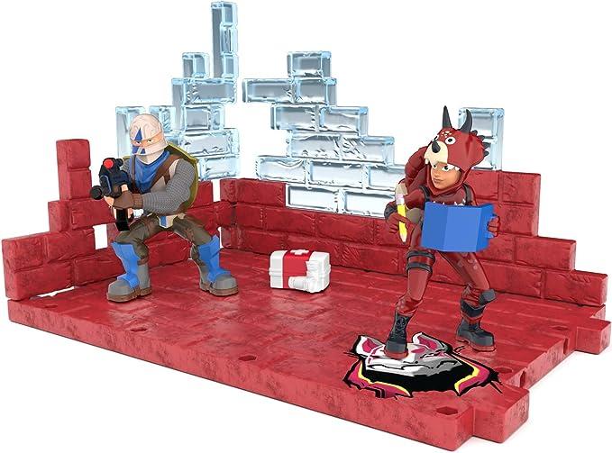 B Fortnite Battle Royale Collection Mega Fort Display Set /& 2 Exclusive Figures