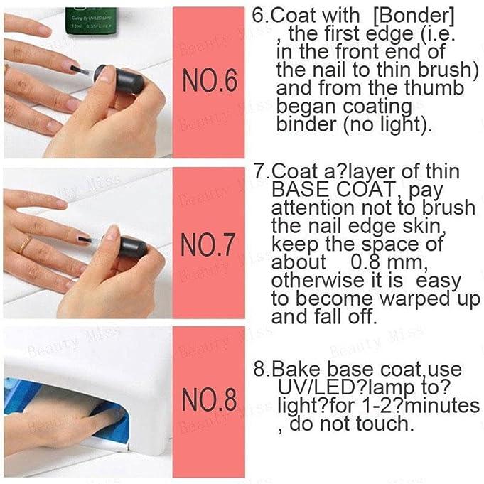 Amazon.com: ZHUOTOP Perfect Nails Gel Polishes Base Top Coat UV ...