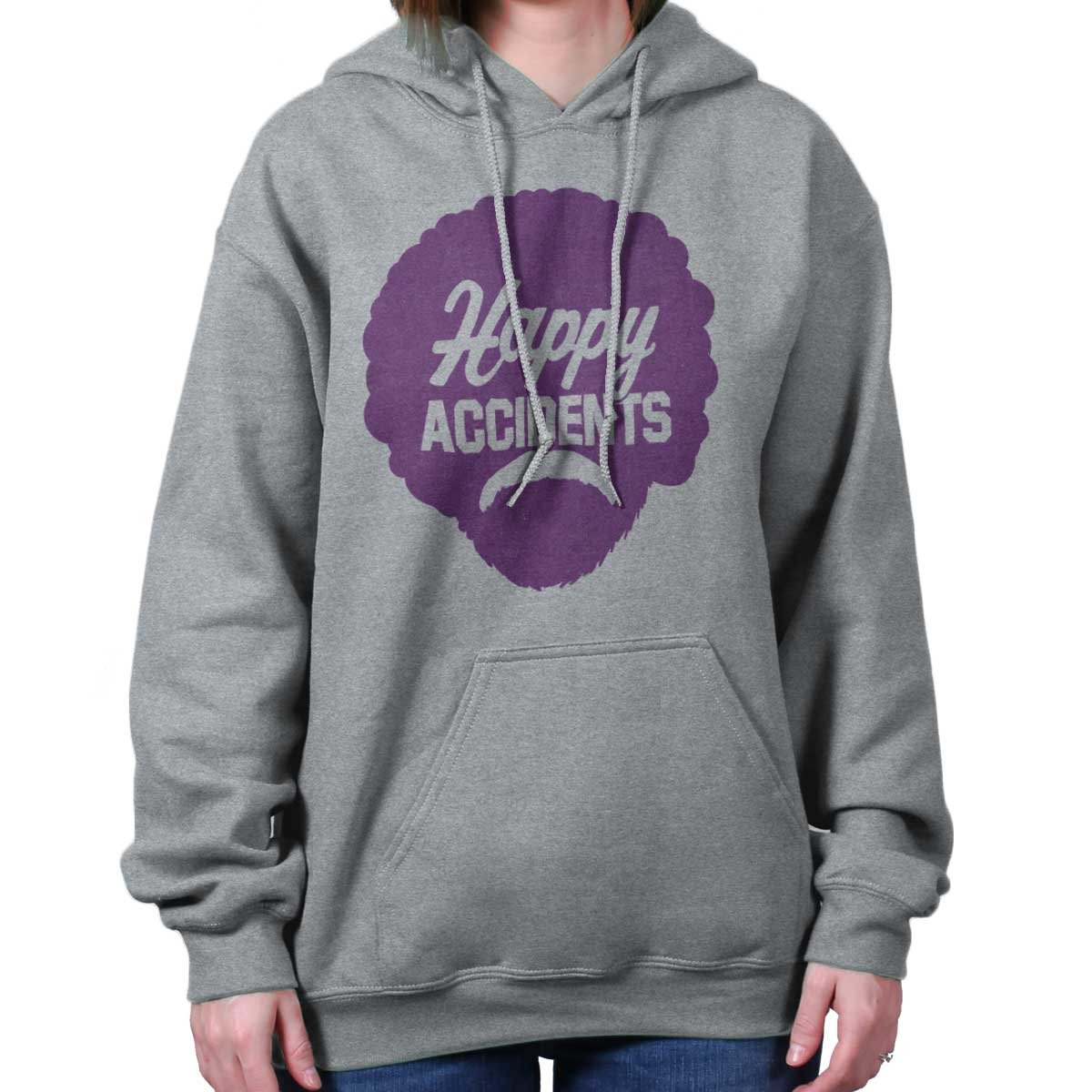 Brisco Brands Happy Accidents No Mistakes Bob Ross Joy of Painting Hoodie Sweatshirt by Brisco Brands (Image #4)