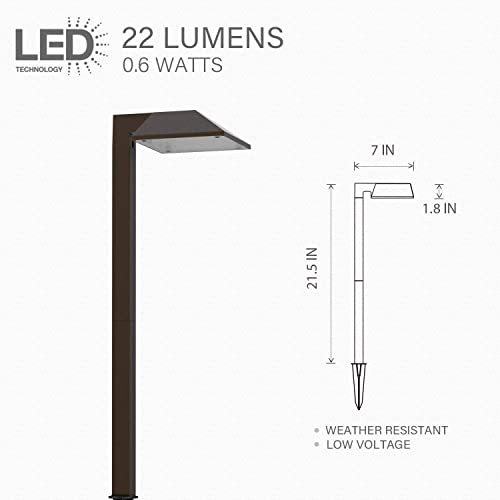 Landscape Lighting, 0.6W Low Voltage Pro Path Yard Lights for Garden Path Pathway Lights Lawn LampLED Path Light Charcoal Brown 8409-2101-01