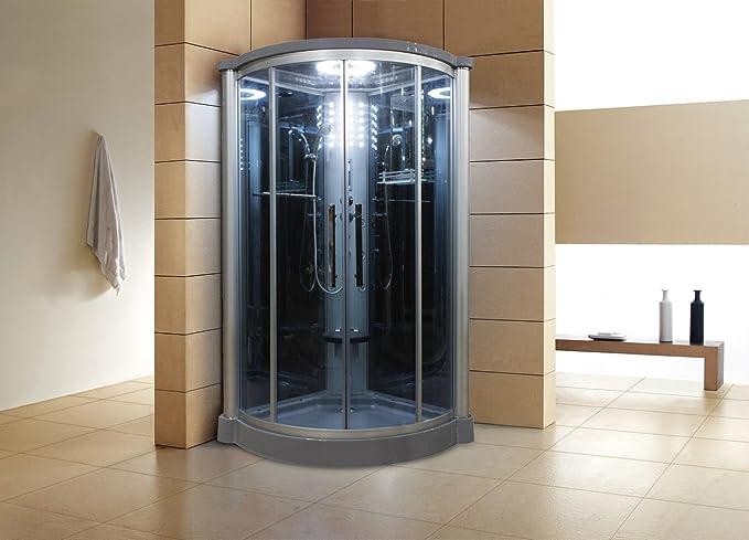 Unidad de Gabinete de ducha de vapor de puerta corredera cristal color: azul: Amazon.es: Bricolaje y herramientas