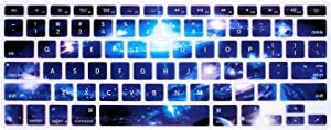 Galaxy Keyboard Cover Silicone Skin for MacBook Pro 13 Inch, 15 Inch (with or Without Retina Display) MacBook Air 13 Inch