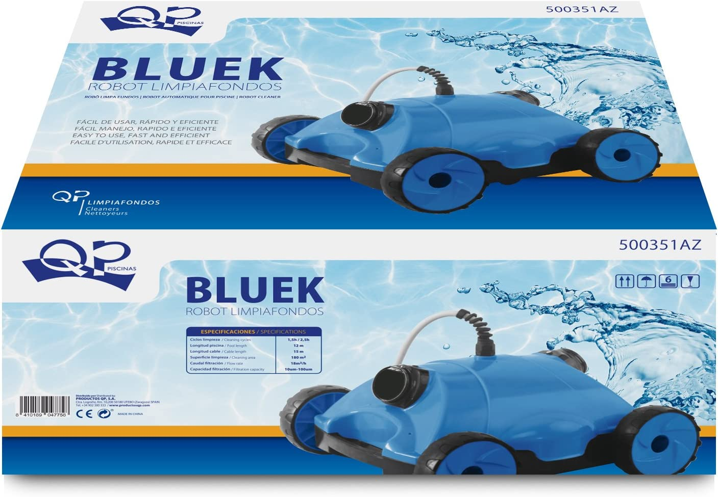 Productos QP Limpiafondos electrico Bluek - Piscinas y Spas QP ...