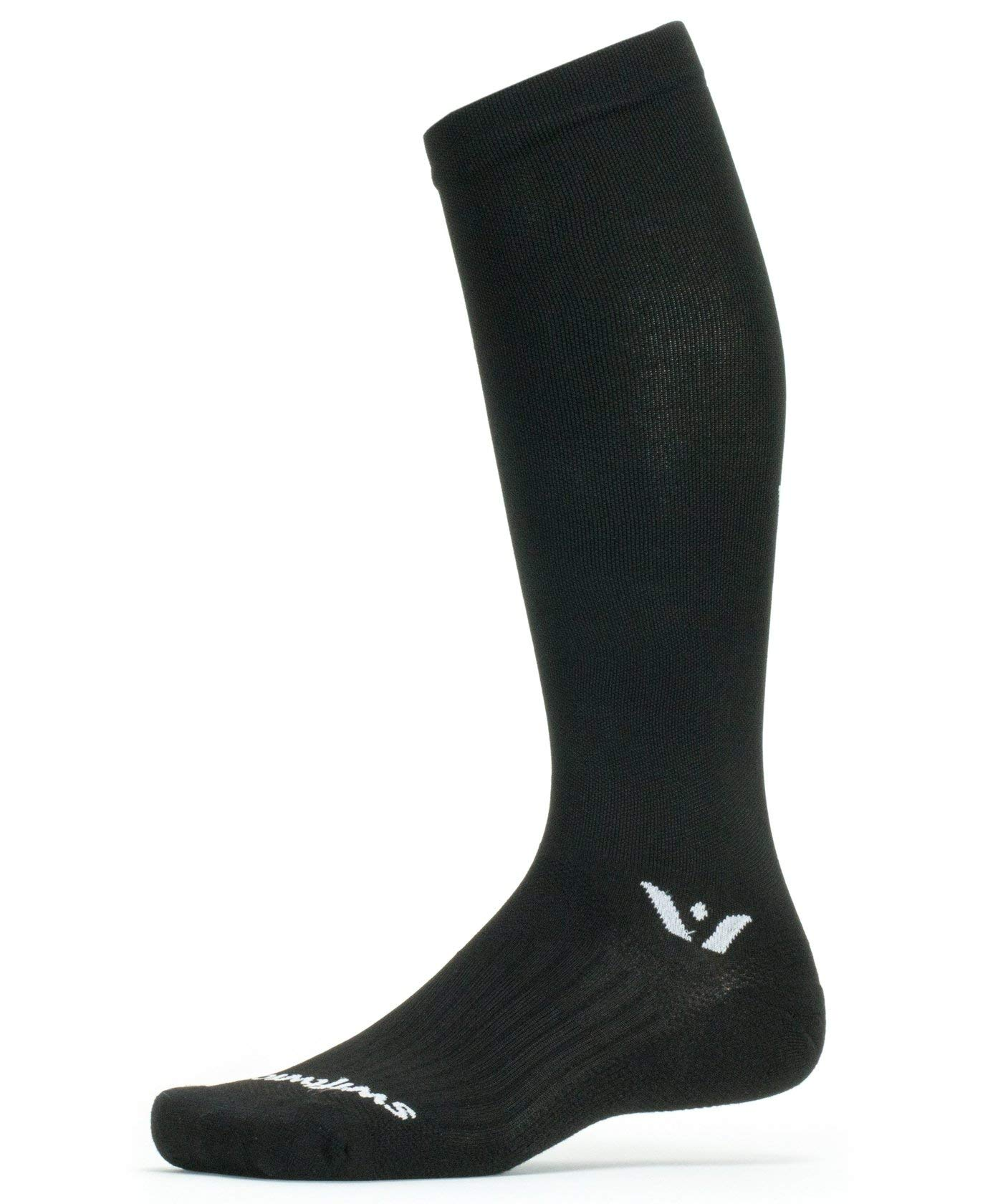 Swiftwick- Aspire Twelve | Socks Built for Running | Minimal Cushion, Blister Resistant, Knee High Compression Socks | Black, X-Large by Swiftwick