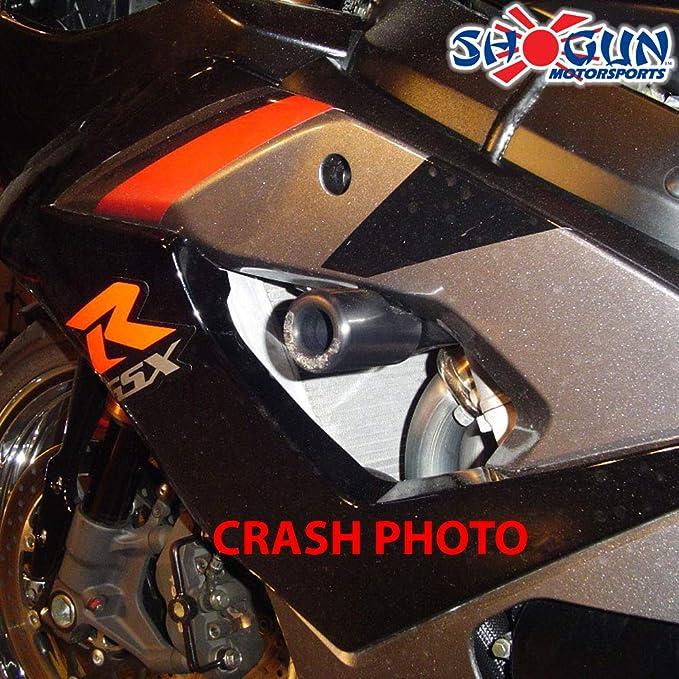 Black Strada 7 Frame Sliders for Suzuki GSXR1000 2003-2004