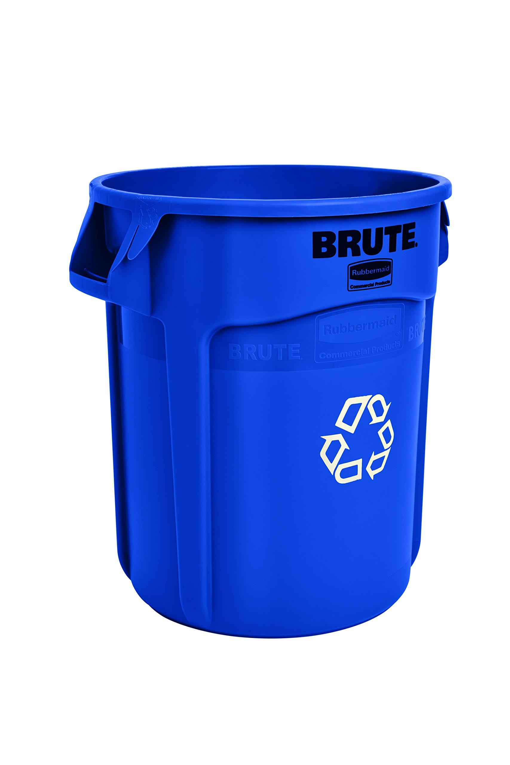 Amazon Com Plasticplace 20 30 Gallon Blue Recycling