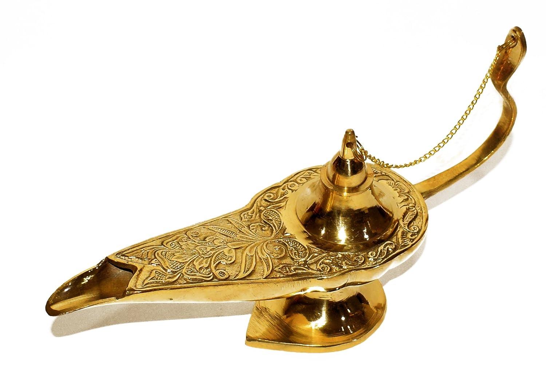 新作商品 アラジンオイルランプGenie/ Ornate Chirag – golden-tone真鍮 – – ヴィンテージおもちゃ& AladdinLamp-Small Gifts 10インチ For Kids/コスチュームパーティーホーム装飾 7インチ ゴールド AladdinLamp-Small B076BP7MZC 10インチ 10インチ, ROSEGRAY:5ea233a5 --- svecha37.ru