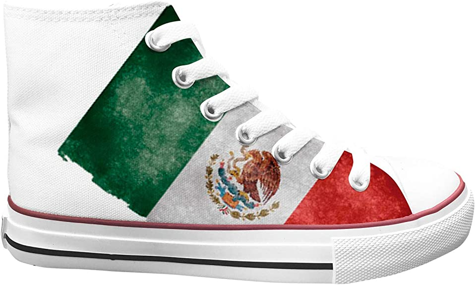 Mexico United States Relations Flag Mens Classic Canvas Sneakers Excellent Walking Sports Shoes