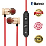 efito Magnetic Bluetooth Waterproof Attractive Headphone with Noise Isolation, Integrated Neckband, Thunder Beats Stereo Sound and Hands-free Mic and Controlling Buttons with Magnetic Earbuds , Compatibility Secure Fit for Sports , Gym , Running & Outdoor with Built-in Microphone Supports 100% Original
