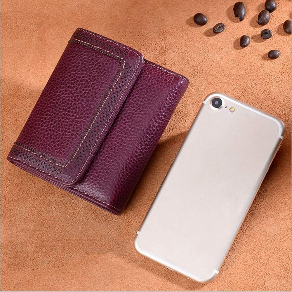 AIMIXU Womens Retro Soft Leather Short Money Bag
