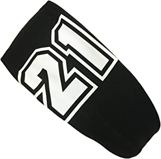 product image for Player ID Black/White Headband Basketball Volleyball Softball Soccer