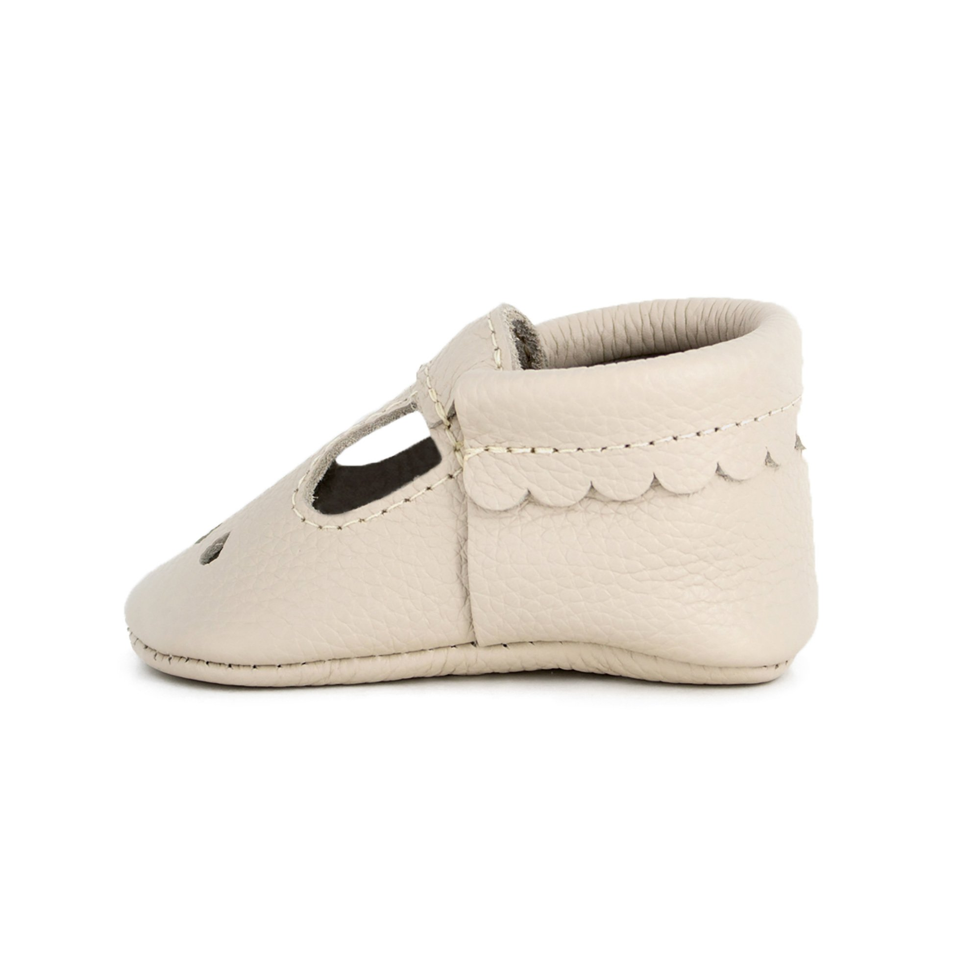 Freshly Picked Birch Mary Jane Soft Sole Leather Baby Moccasins - Size 3